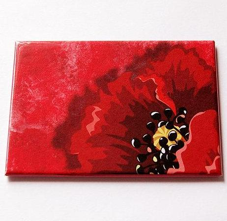 Poppy Large Pocket Mirror - Kelly's Handmade