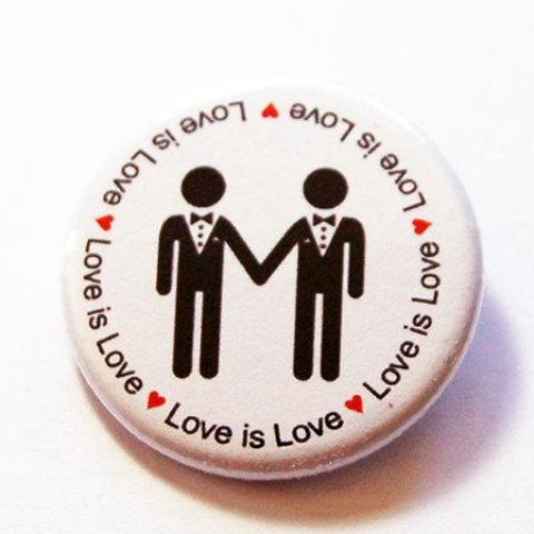 Love is Love Men Pin - Kelly's Handmade