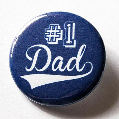 Number 1 Dad Pins - Kelly's Handmade