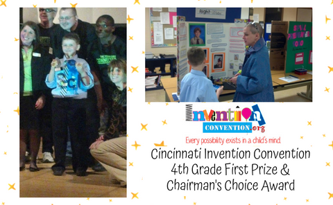 Grip Wizard handwriting pencil grip fine motor skill glove inventor at Cincinnati Invention Convention 2013