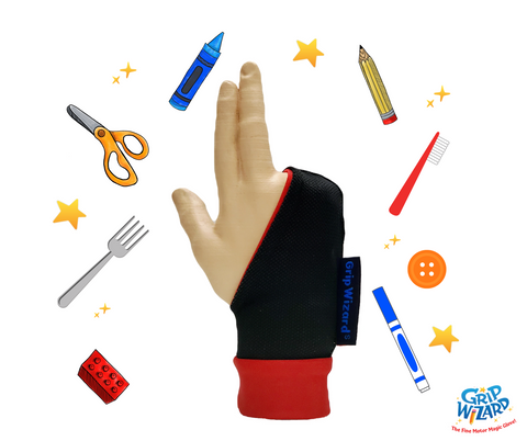 Red Grip Wizard, Fine Motor and Handwriting Magic Glove