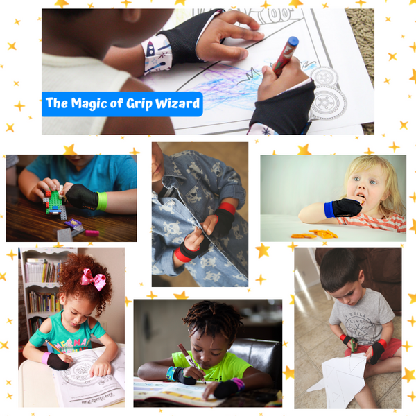 Blue Grip Wizard, Fine Motor and Handwriting Magic Glove