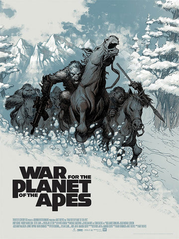 War for the Planet of the Apes Print Mondo