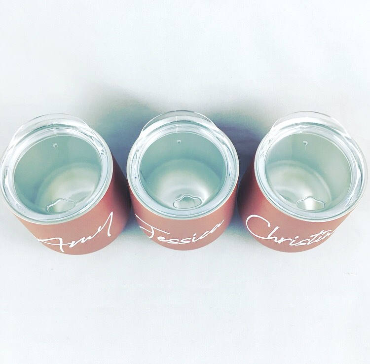 4a7c769ac23 ... Set of 2 Rose Gold Wine Tumbler and Socks Will You Be My Maid of Honor  ...