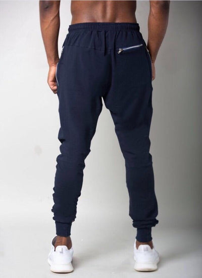Cerus Navy Lightweight Jogging Bottoms-Cerus