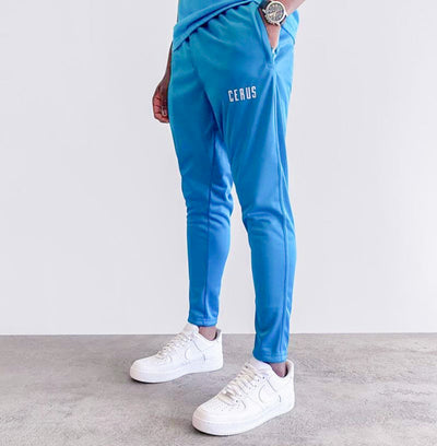 Cerus Teal Slim Fit Joggers-Cerus
