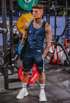 Cerus Navy Apollo Vest with White Stripe-Cerus