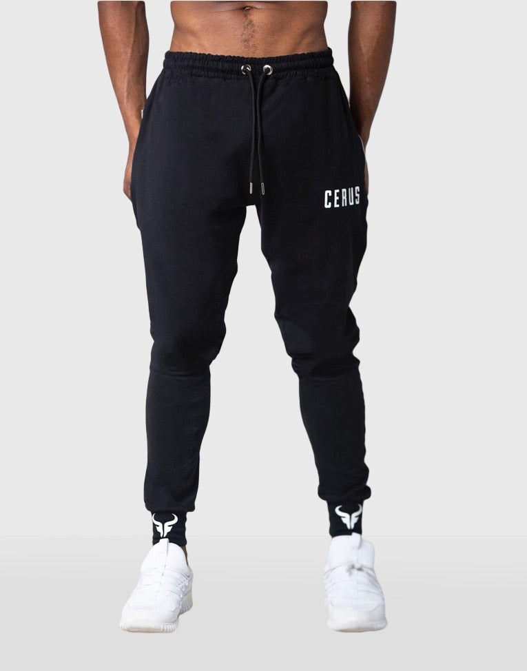 Cerus Black Lightweight Jogging Bottoms-Cerus