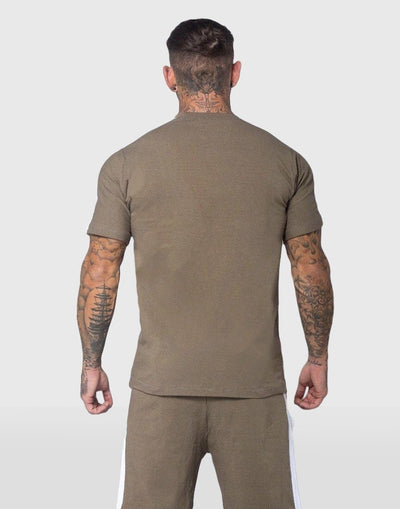 Cerus Khaki Alexander T-Shirt with White Strip-Cerus