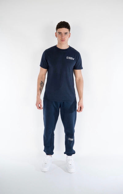 Cerus Slim Fit Navy Legacy Sweatpants-Cerus