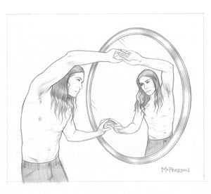 Trapped in the Narcissus Gaze (Part One) - Original Drawing