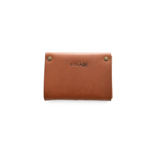 Scalloped Cardholder - Cognac back view