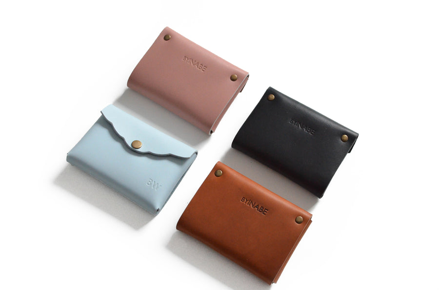 Scalloped Cardholder Structured Bundle Four colors