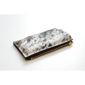 SP Travel Purse (Cellphone Case) with natural cow hair and zippered wallet