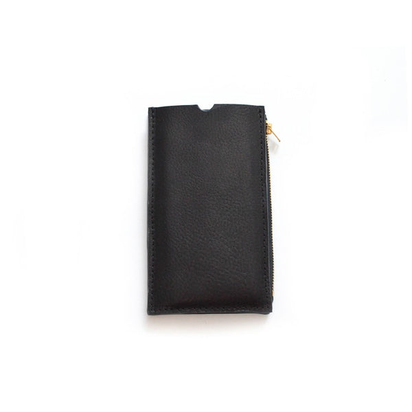 Pebbled Black Travel Purse (Cellphone Case)