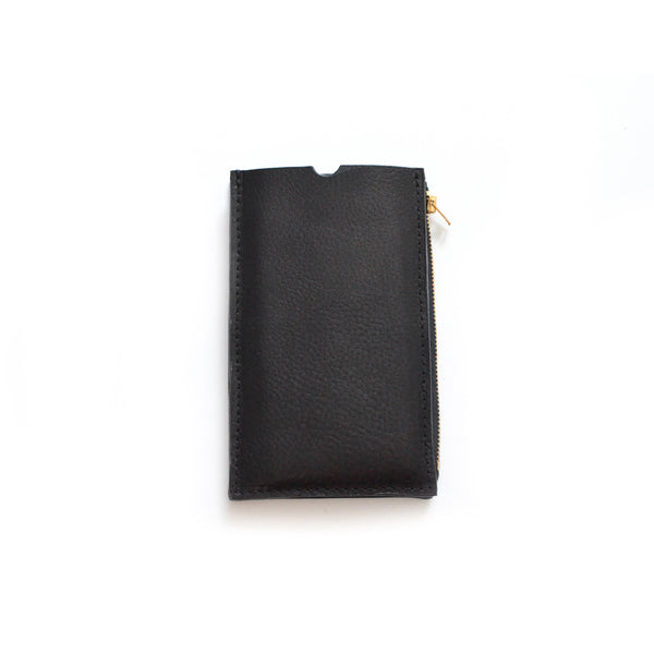 XL Pebbled Black Travel Purse (Cellphone Case)