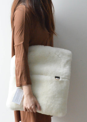 Shearling Fold-over Clutch (Online Exclusive)