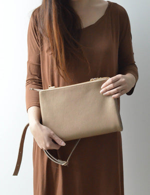"Sand - 15"" Vertical Convertible Tote"