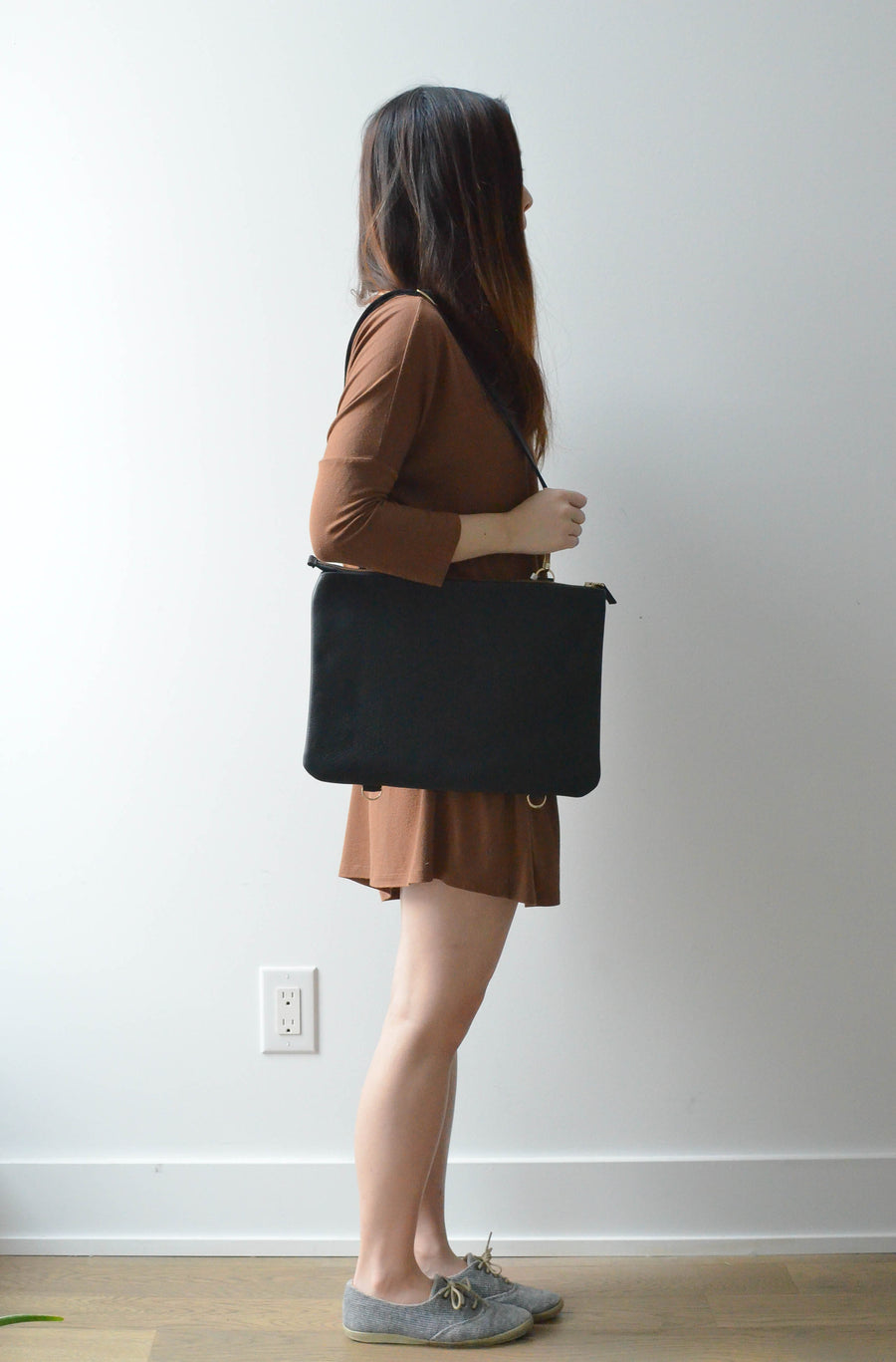 "Black- 13"" Horizontal Tote"