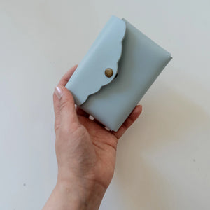 Scalloped Cardholder - Powder Blue