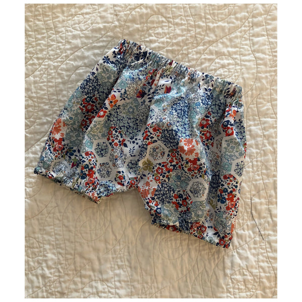 Baby Bloomers, 6 months, patchwork blue