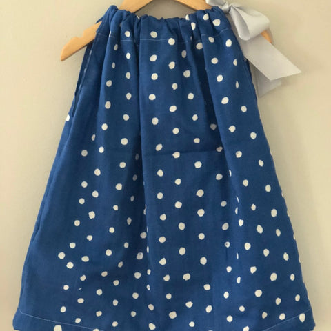 Nani IRO dress, blue polka dot, Size 2