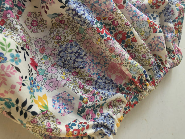 Baby Bloomers, Liberty of London, patchwork collection, 6 months