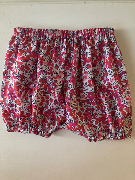 Baby Bloomers in Liberty of London, Wiltshire Red, 6 months