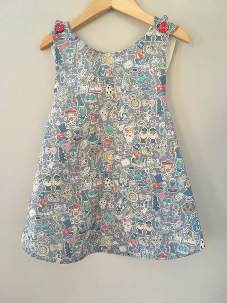 Alice in Wonderland Pinafore - Size 4/5