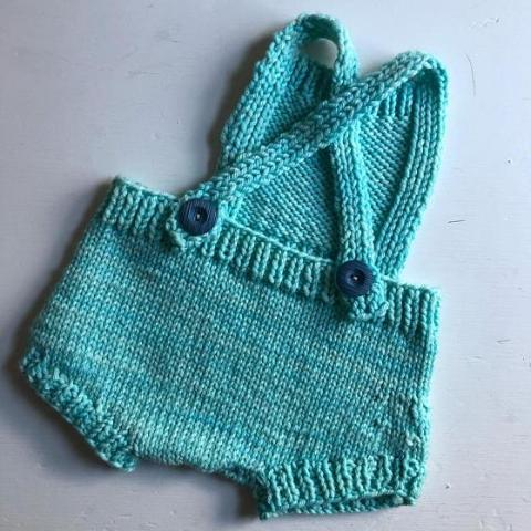 Wool Romper/Playsuit- Robin's Egg Blue in size 6 months
