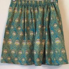 Liberty of London Skirt- Peacock Feathers