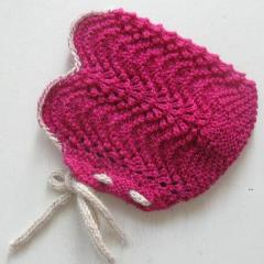 Wool Bonnet- Pink