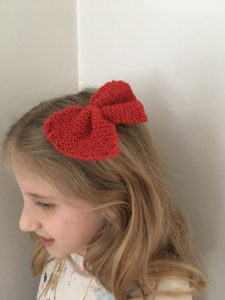 Bow Barrette, Red