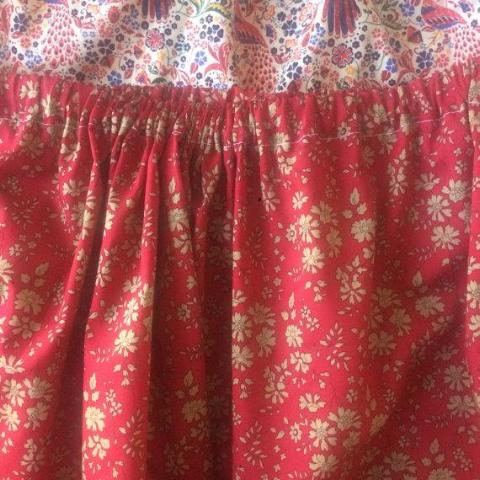 Liberty of London skirt: Red floral, size 5