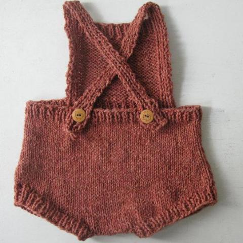 Organic Wool/Cotton Romper in Sunstone, 12 months