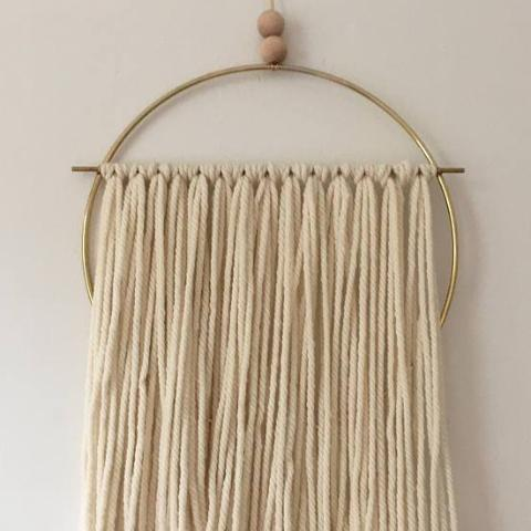 Transparent: Wool and Brass Wall Hanging