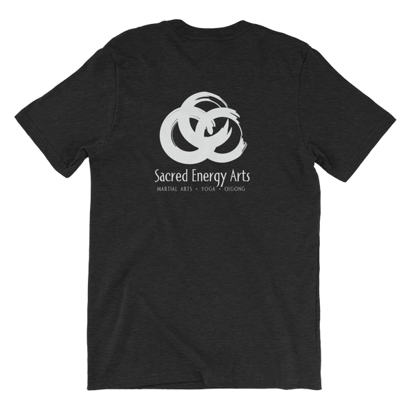 SEA Rings Unisex T in Heather Black (print on back)