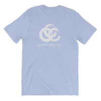 SEA Rings Unisex T in Heather Blue (print on back)