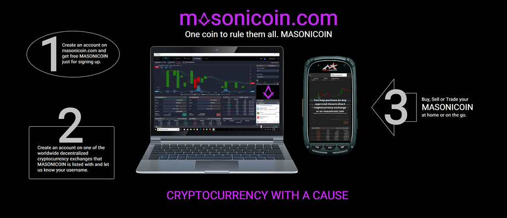 Join the Masonicoin airdrop. Register today, receive today!