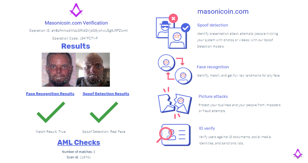 Masonicoin Verification with Artificial Intelligence