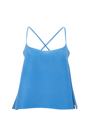 Crossback silk camisole top
