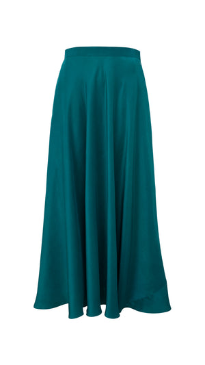 Silk bias cut maxi skirt