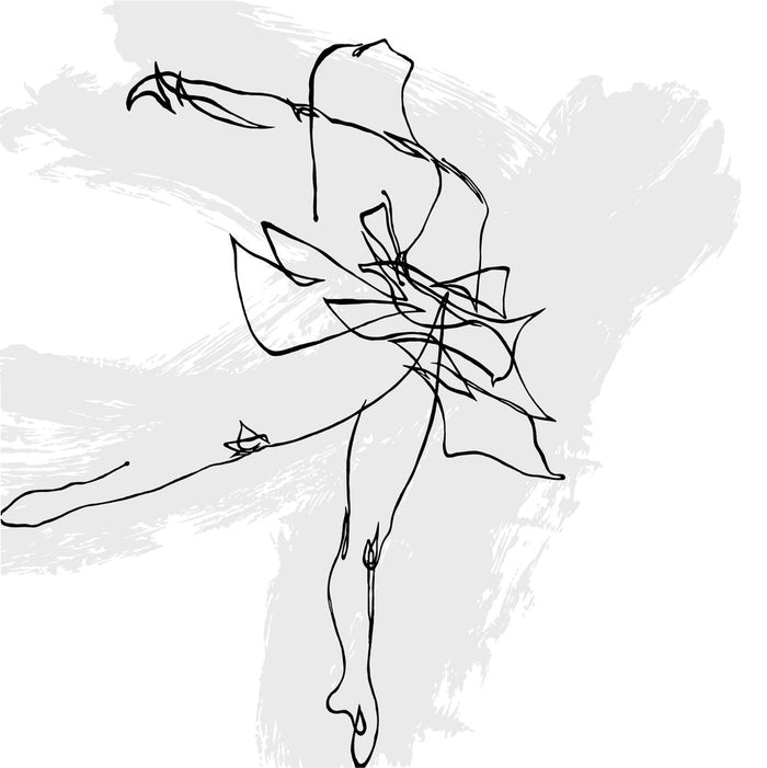 Arabesque on Gray (Ballet Motion Study Arty)