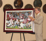 Nick Saban with The Crimson Rose