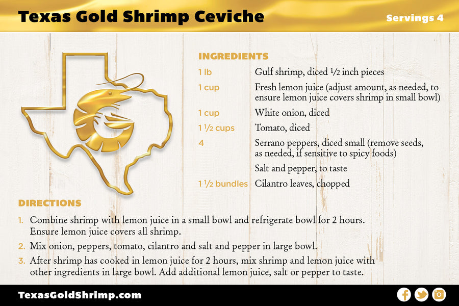 Texas Gold Shrimp Ceviche