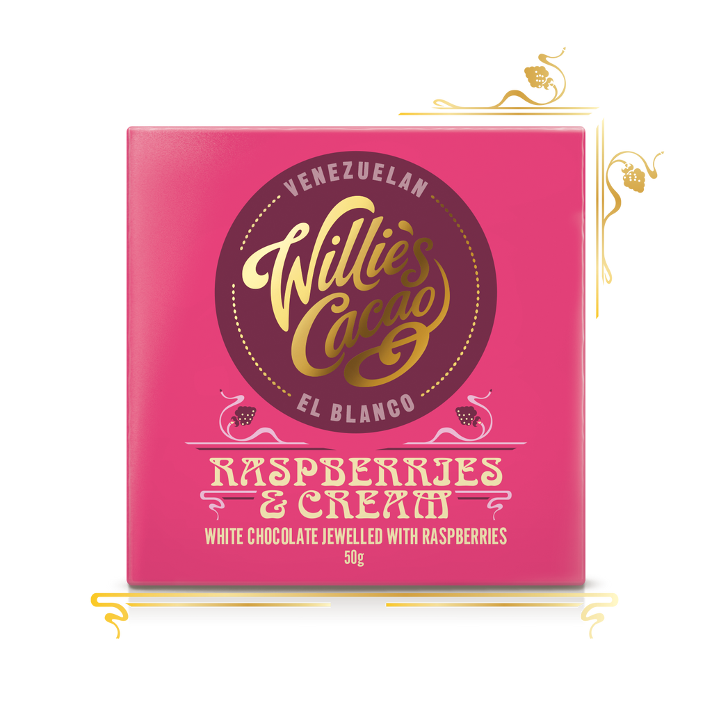 Willie's Cacao Raspberries & Cream (50g bar)