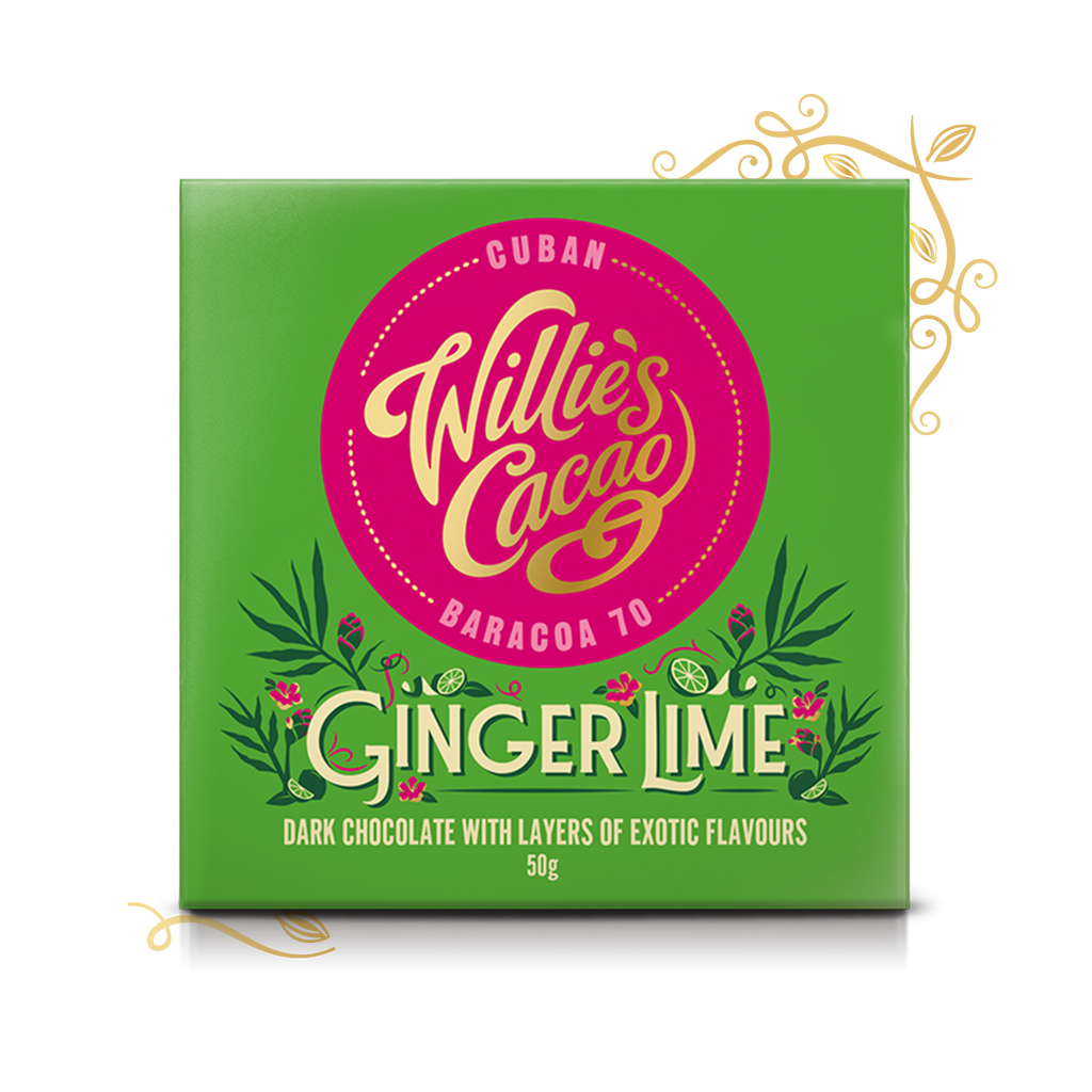 Willie's Cacao Ginger Lime (50g bar)