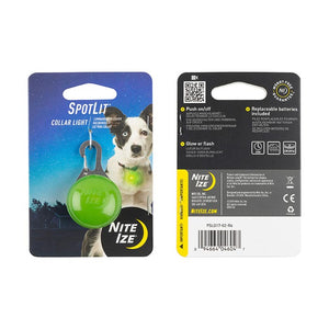 Nite Ize Spotlit Collar Light, Lime Paw