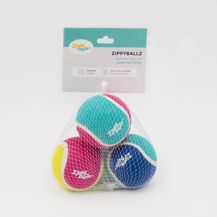 ZippyPaws ZippyBalls 3-pack Tennis Balls Dog Toy