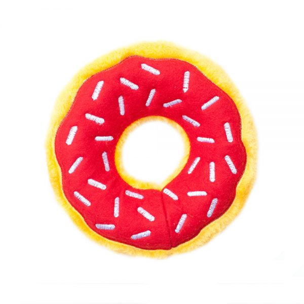 ZippyPaws Donutz - Cherry No Stuffing Dog Toy